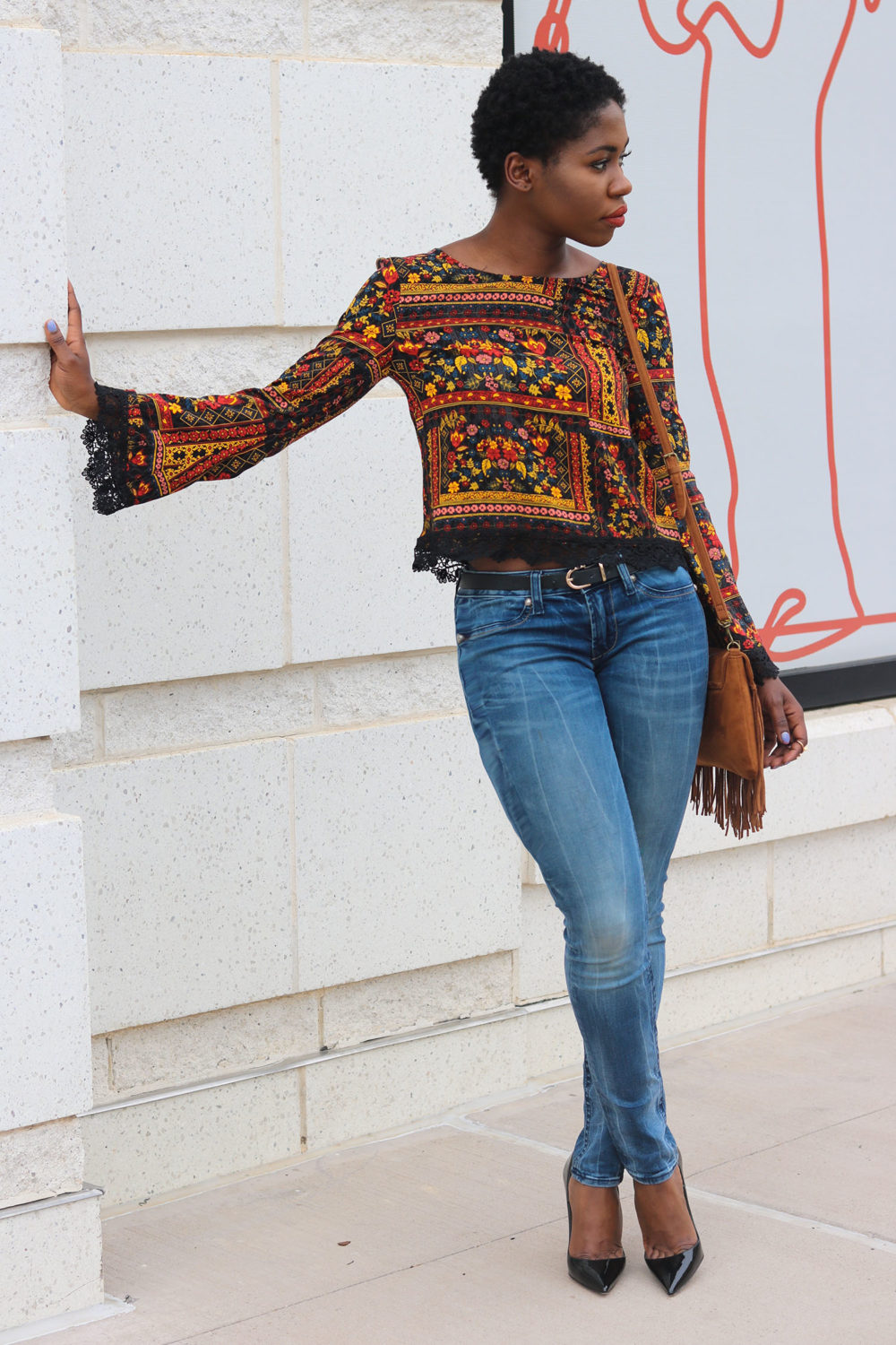 style synopsis chic printed blouse