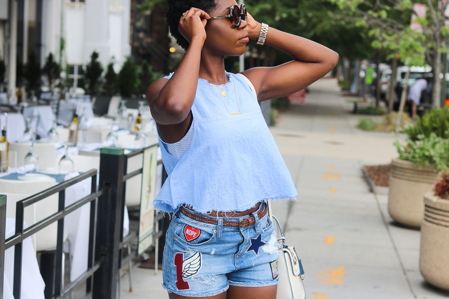 style synopsis vibrant denim looks