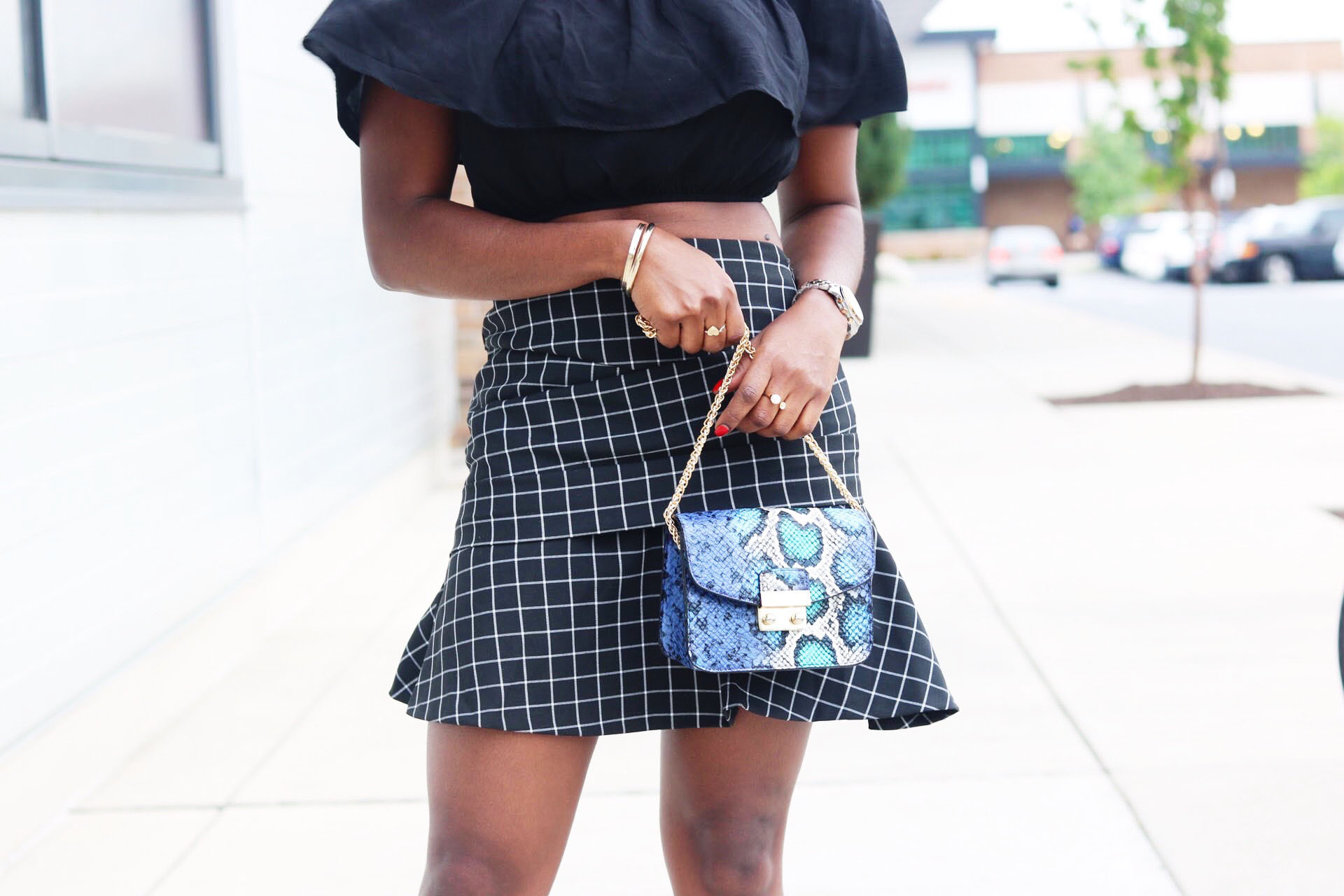 style-synopsis-check-flared-skirt-summer-look