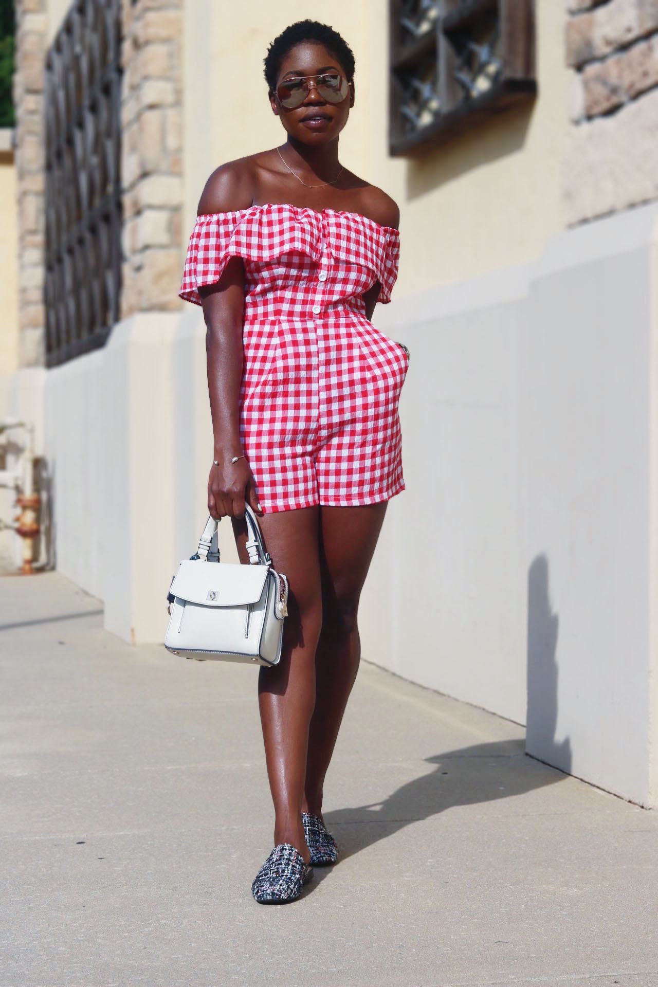 style-synopsis-red-gingham-romper-fabric-mules-outfit