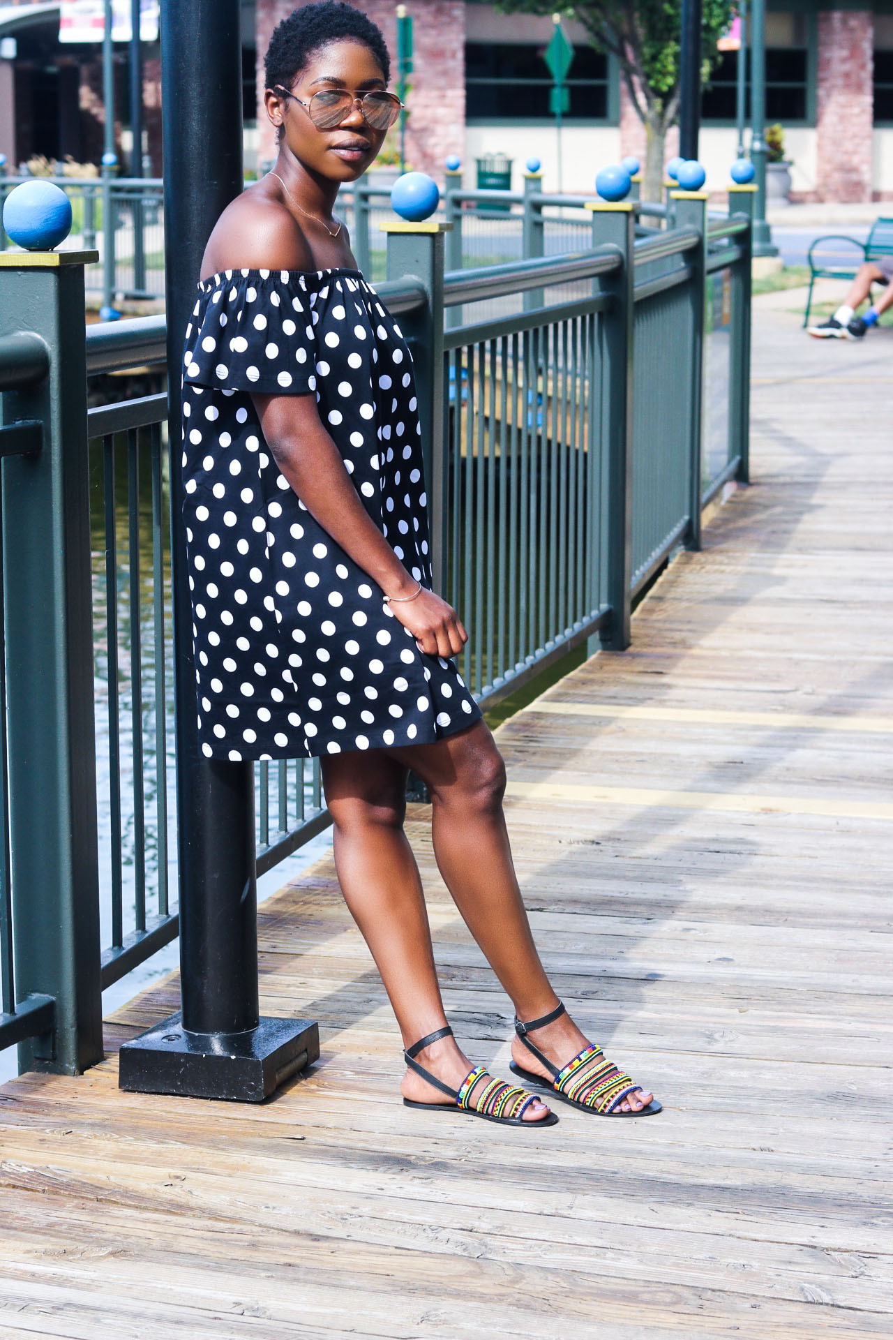 style-synopsis-polka-dot-off-shoulder-dress