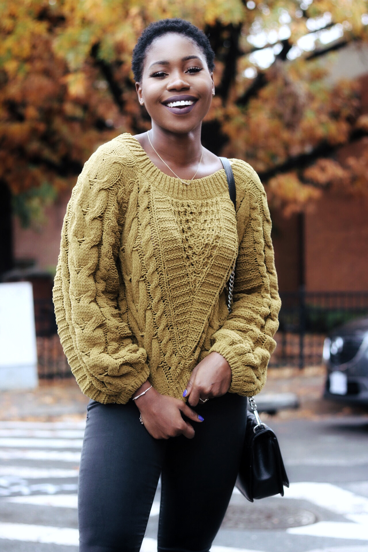 ALT = Yellow patterned sweater
