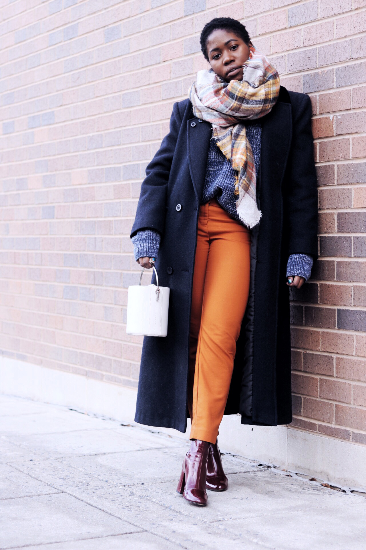 ALT= winter color coordinated look