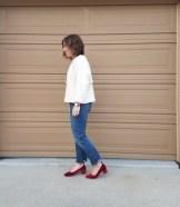 Everlane velvet day heels outfit 2