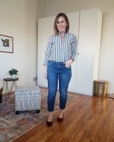 fall outfit 11_30 everlane shirt and day heels