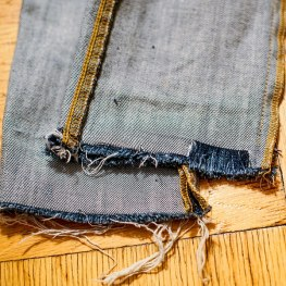 DIY Raw Edge Fringe Jeans Style Tomes
