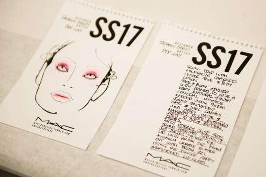 Tadashi Shoji Runway Makeup Look SS17 NYFW Backstage
