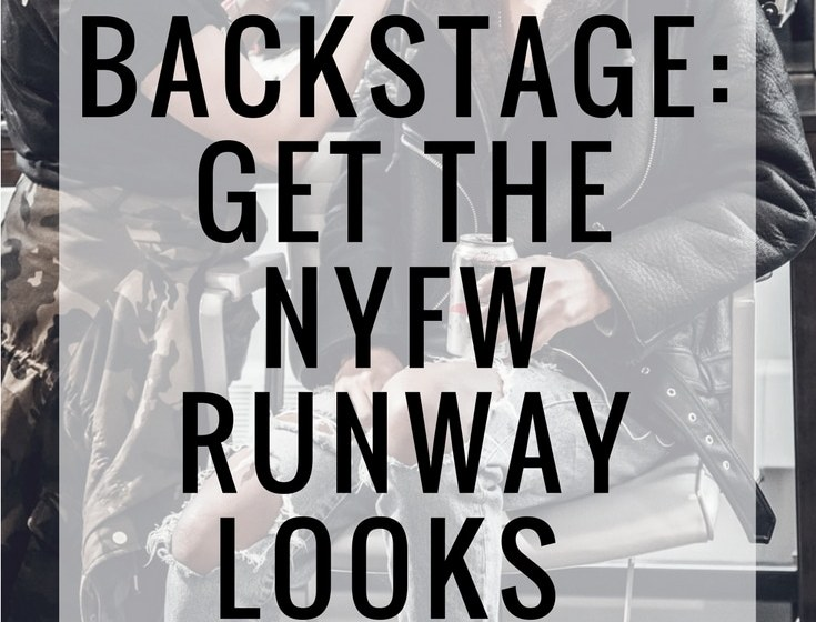 NYFW blogger backstage hair tutorials and how-to by aveda