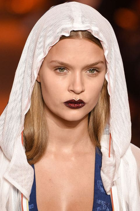 DKNY Spring 2017 creative makeup beauty trends