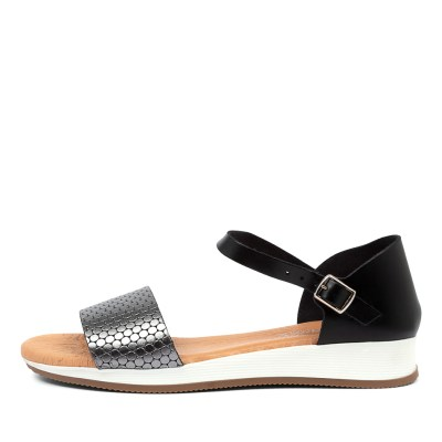 Beltrami Indina Be Black Pewter Sandals