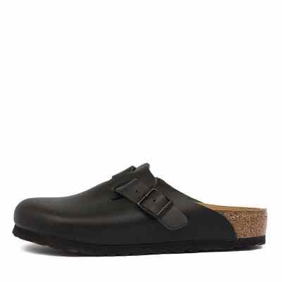 Birkenstock Boston Black Shoes Womens Shoes Casual Flat Shoes