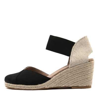 Diana Ferrari Zana Black Beige Sandals