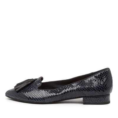 Diana Ferrari Dustu Df Navy Shoes Womens Shoes Casual Flat Shoes
