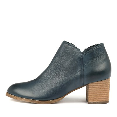 Django & Juliette Sharon Navy Boots Womens Shoes Casual Ankle Boots