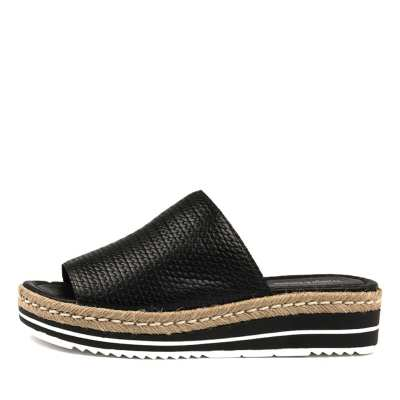 Django & Juliette Accent Black Sandals