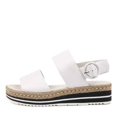 Django & Juliette Atha White Sandals