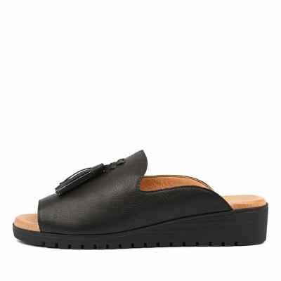 Django & Juliette Mayson Black Black Sole Sandals