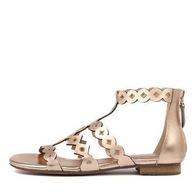 Django & Juliette Prudie Rose Gold Sandals