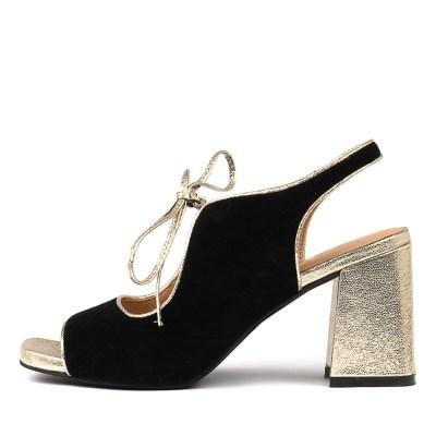 Django & Juliette Roland Black Gold Sandals