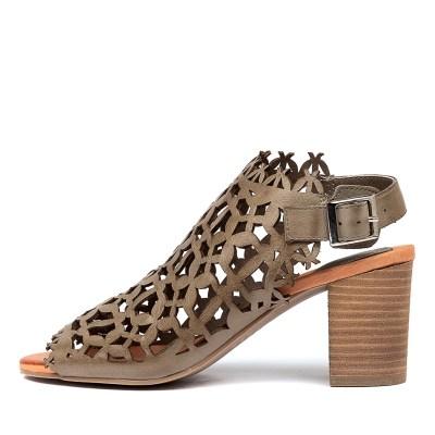Django & Juliette Shaina Khaki Sandals