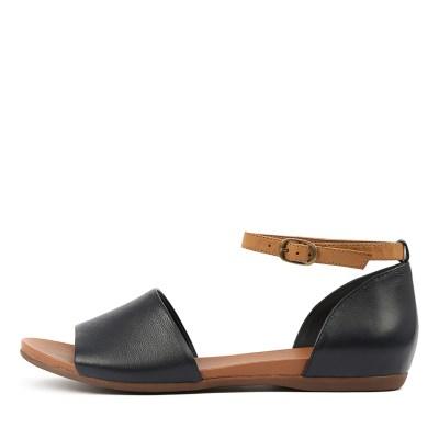 Django & Juliette Bimere Navy Tan Sandals