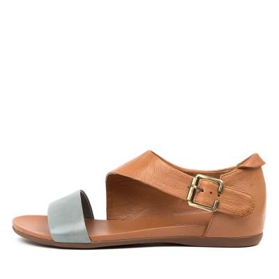Django & Juliette Bereds Steel Dk Tan Sandals