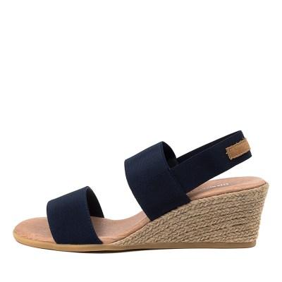 Django & Juliette Bloomy Dj Navy Tan Sandals
