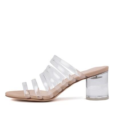 Django & Juliette Shafter Dj Clear Nude Sandals