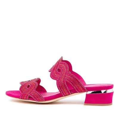 Django & Juliette Thekla Dj Pink & Red Multi Hot Pink Sandals