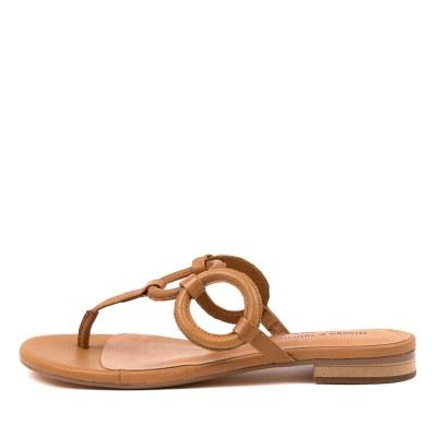 Django & Juliette Pearly Dj Dk Tan Sandals Womens Shoes Casual Sandals Flat Sandals