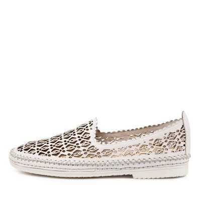 Django & Juliette Vidal Dj White White Sole Shoes Womens Shoes Casual Flat Shoes