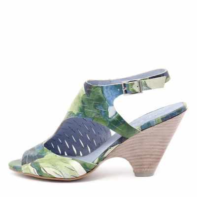 Django & Juliette Biddy Green Blue Multi Sandals