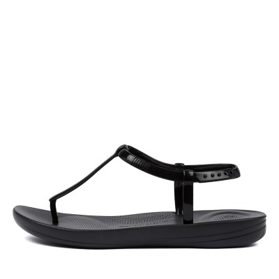 Fitflop Iqushion Splash Pearlised Ft Black Sandals
