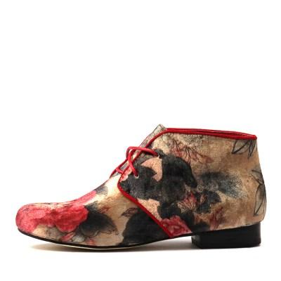 Gamins Garrow Red Flower Boots