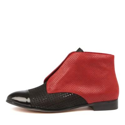 Gamins Juicia Black Dk Red Boots