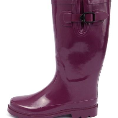 Gumboots Glossy Purple Purple Boots