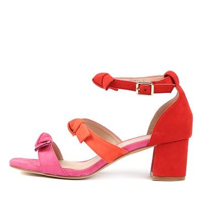 I Love Billy Pauletta Fuchsia Multi Sandals