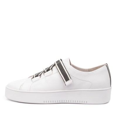 Mollini Lafay Mo White Black & White Sneakers