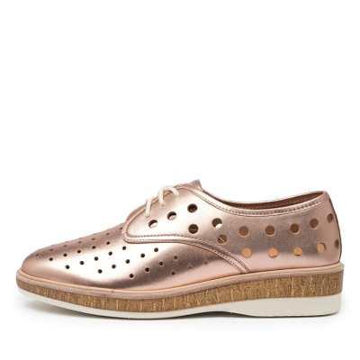 Rollie Derby Midsole Cork Punch X Rl Rose Gold Shoes