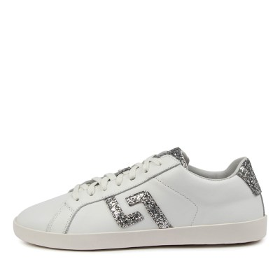 Rollie Prime X Rl White Silver Glitter Sneakers Womens Shoes Casual Casual Sneakers