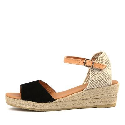 Sofia Cruz Meta Sc Black Sandals