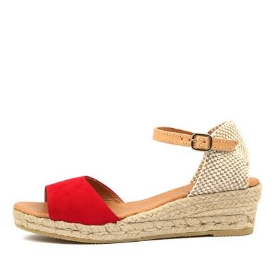 Sofia Cruz Meta Sc Red Sandals