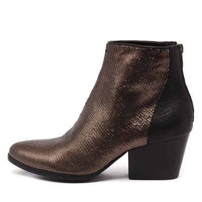 Silent D Arrive Bronze Black Boots Womens Shoes Casual Ankle Boots