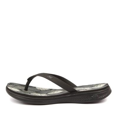 Skechers 14680 H2 Goga Lagoon Black Grey Sandals