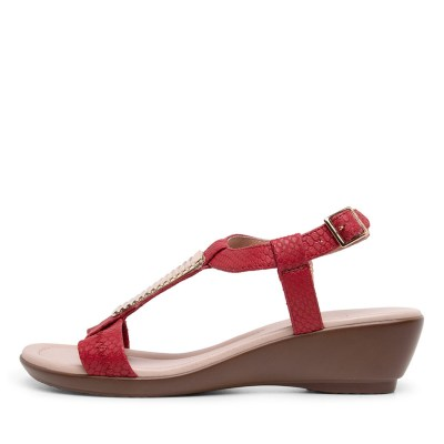 Supersoft Pavia Fire Red Sandals