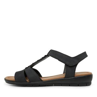 Supersoft Ferraro Charcoal Sandals
