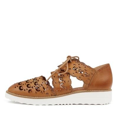 Top End Ozzie Tan White Sole Shoes