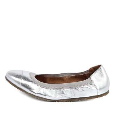 Walnut Ava Ballet Silver Shoes