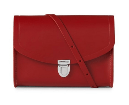 The Cambridge Satchel Company Medium Plush Lock Red Bag