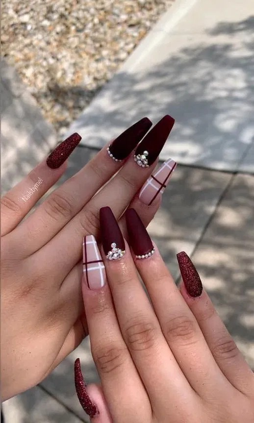 Burgundy Nails Nail Polish Nail Art Burgundy Nails